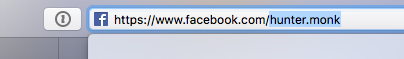 Facebook profile button